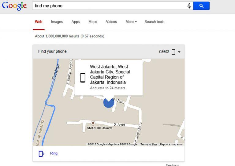 "Google Permudah Pencarian Telpon Lewat ""Find My Phone"""