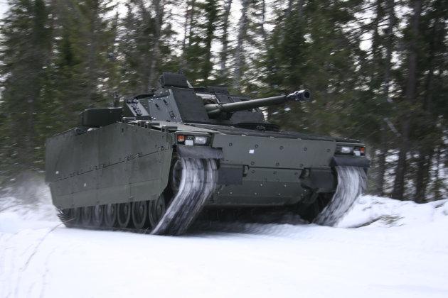 Suspensi Kendaraan Tempur CV90 Gunakan Teknologi F1