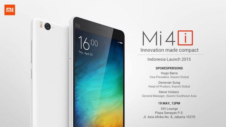 19 Mei 2015: Xiaomi Mi 4i Resmi Masuk ke Indonesia