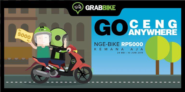 GrabBike Gelar Promo Goceng Anywhere