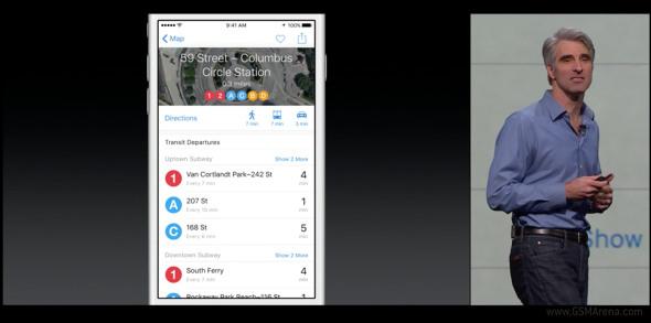 Di Apple iOS 9, Apple Maps Muat Rute Angkutan Umum