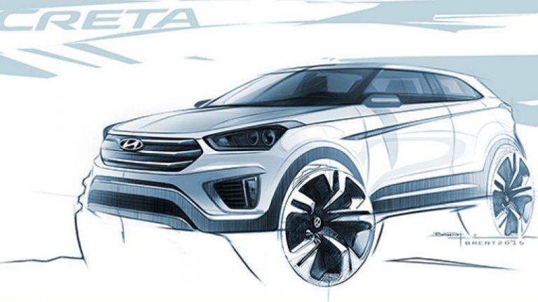 Hyundai Perkenalkan Sketsa Pertama Crossover Creta