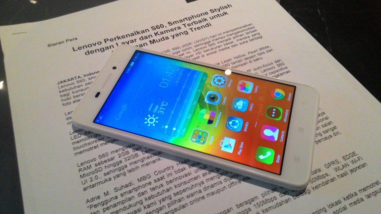 Lenovo S60, Smartphone Stylish untuk Anak Muda
