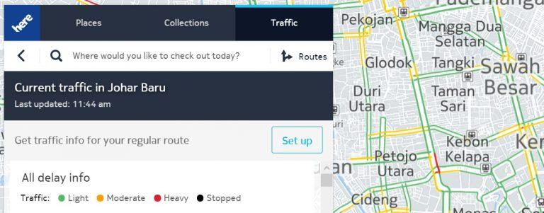 HERE Maps Kini Mampu Sajikan Trafik Lalu Lintas di 50 Negara