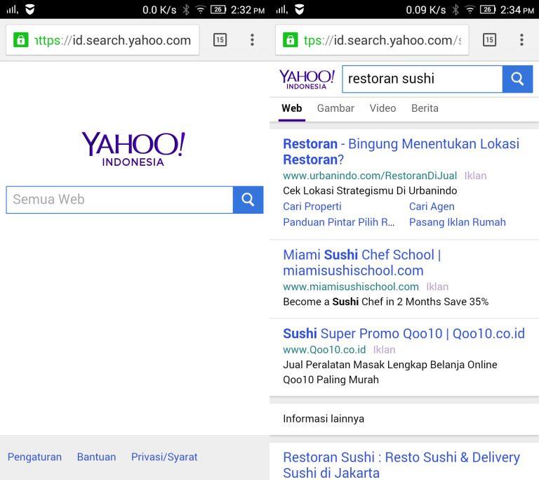 Yahoo Ubah Laman Pencariannya Jadi Mirip Google