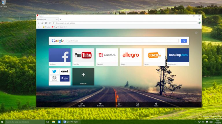 Windows 10 Hadir, Opera Software Rilis Opera 31