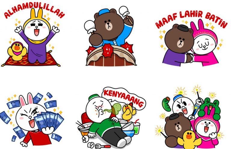 LINE FRIEND Pun Ikutan Lebaran, Ini Sticker Animasinya
