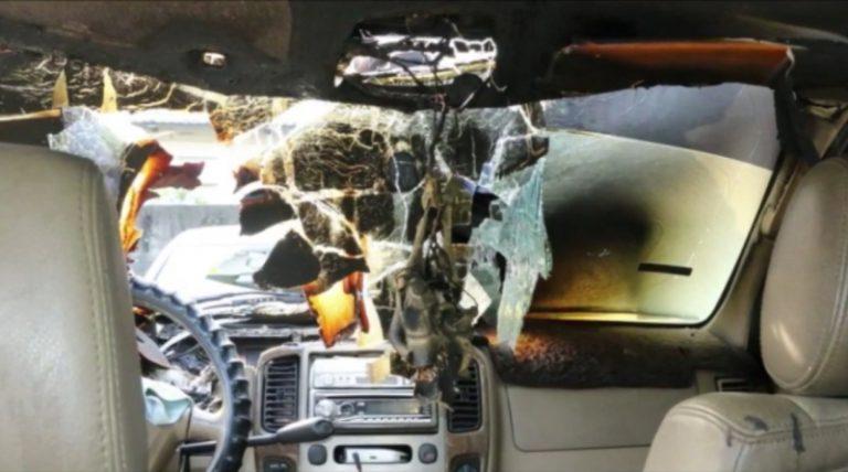Kabin Mobil Hangus Terbakar Akibat Ponsel yang Kepanasan
