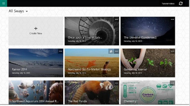 Sway, Digital Storytelling Tool dari Microsoft Kini Hadir di Windows 10