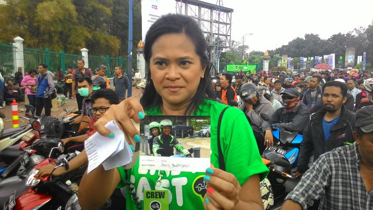 Gelar GrabBike Kingdom, 2500 Pengendara Ojek di Jakarta Gabung ke GrabBike