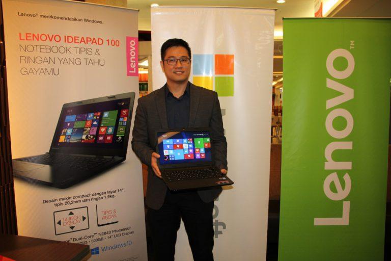 Lenovo Luncurkan Ideapad 100 dengan Desain Ultra Ramping untuk Pelajar dan Mahasiswa