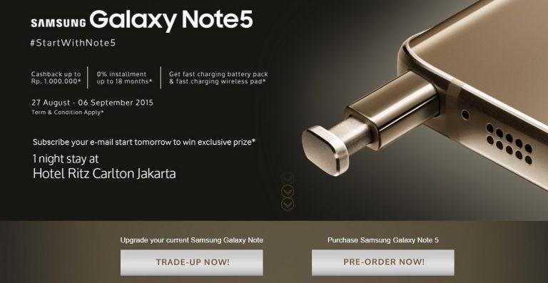 Selain Pre Order, Galaxy Note 5 Bisa Didapatkan dengan Model Trade-Up