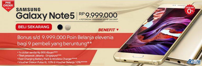 Elevenia Ikut Tawarkan Pre-order Samsung Galaxy Note 5