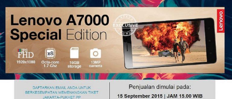Besok! Lenovo A7000 Edisi Spesial Dipasarkan Via Lazada