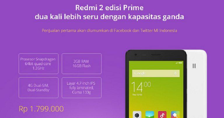 Rayakan 1 Tahun Mi Indonesia, Ribuan Redmi 2 Prime Siap Digulirkan