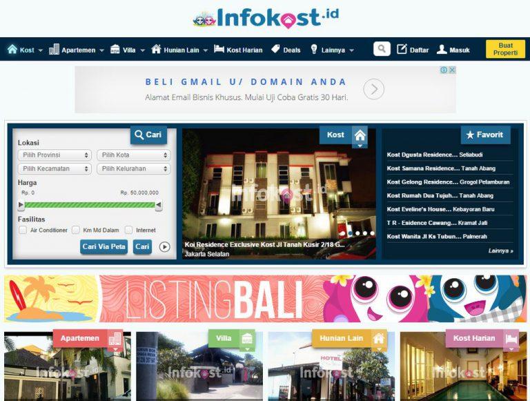 Infokost.id: Layanan Online Pencarian Indekos Kini Hadir di Kota Medan dan Balikpapan