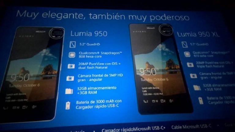 Lewat File Presentasi, Spesifikasi Lumia 950 XL, 950 dan 550 Kembali Bocor