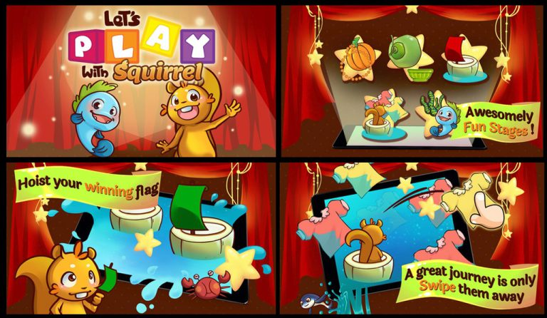 Let's Play with Squirrel: Satu lagi, Mini Games CERI Terbaru dari Qajoo Studio