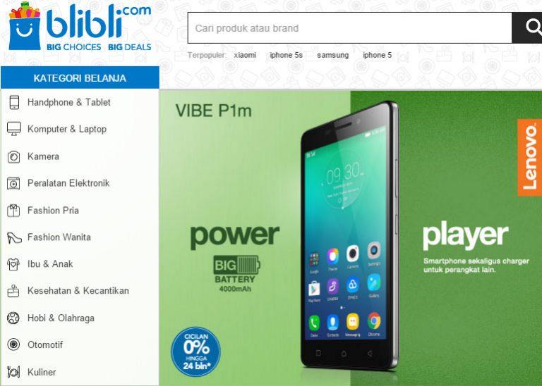 Lenovo Jual VIBE P1m Rp 2 Jutaan Hanya di Blibli.com