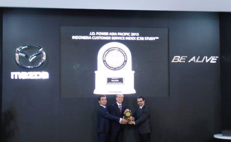 Mazda Terima Penghargaan JD Power Asia Pacific 2015