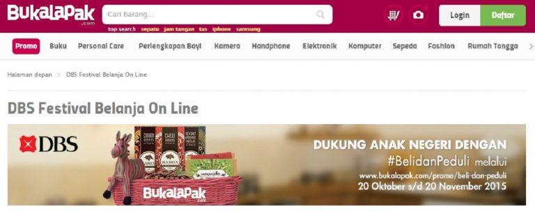 Gandeng BukaLapak.com, Bank DBS Indonesia Gelar Inisiatif #BelidanPeduli