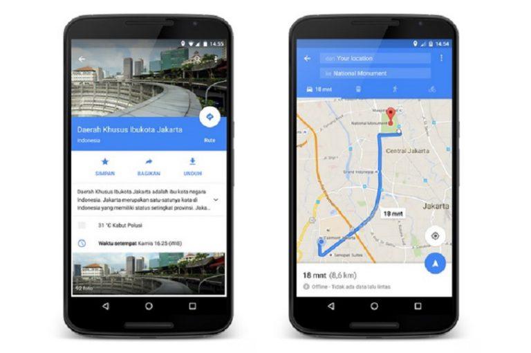 Untuk Penggunanya di Indonesia, Fitur Offline Sudah Tersedia di Google Maps