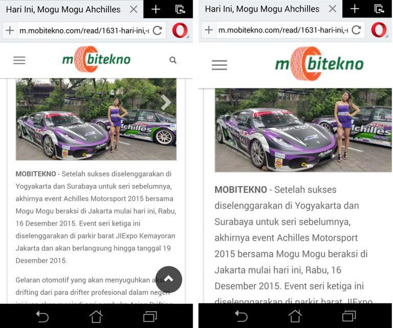 Sukar Membaca Teks Kecil di Mobile Website? Fitur 'Force enable zoom' pada Opera 34 Bisa Mengatasinya!