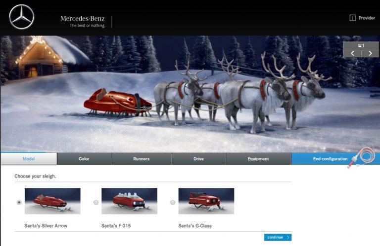 Mercedes-Benz Perkenalkan Seri Kereta Santa Baru untuk Rayakan Natal 2015