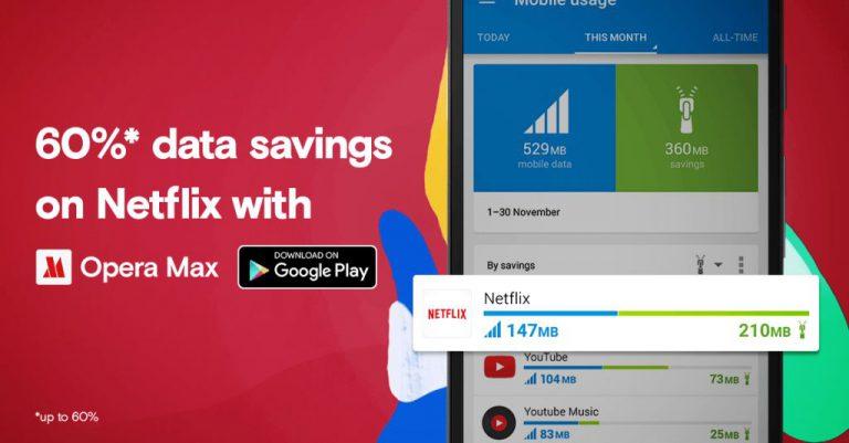 Paket Data Habis Saat ber-Netflix? Opera Max Tawarkan Solusinya