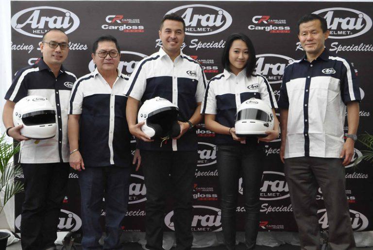 Cargloss Proriders Boyong Tiga Helm Arai Terbaru untuk Balap Roda Empat ke Indonesia