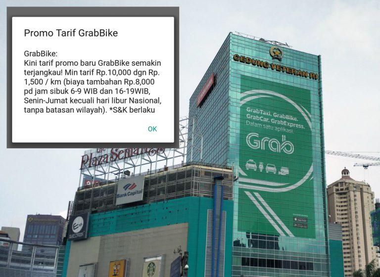 Kompetisi Dimulai! GrabBike Perkenalkan Tarif Promosi Baru