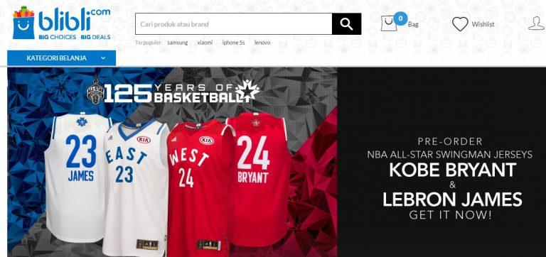Blibli.com Buka Pre-order Pembelian Jersey NBA All-Star Kobe Bryant