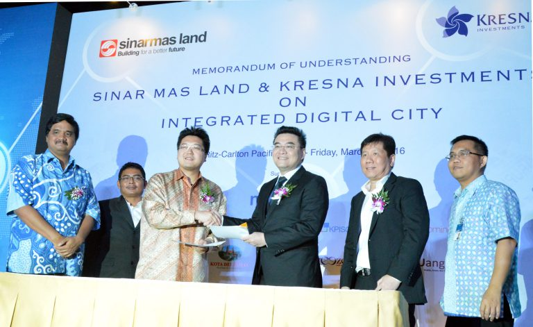 Sinar Mas Land Jalin Kerjasama dengan Kresna Graha Investama Bangun Smart Digital City