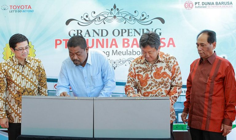 Dunia Barusa Meulaboh, Outlet Resmi Pertama Toyota di Aceh Barat