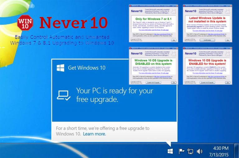 Pengguna Windows 7 dan 8.1 Bisa Gunakan Tool Ini Jika Enggan Upgrade ke Windows 10