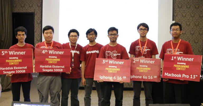 Bukalapak Gelar Programming Contest untuk Kedua Kalinya