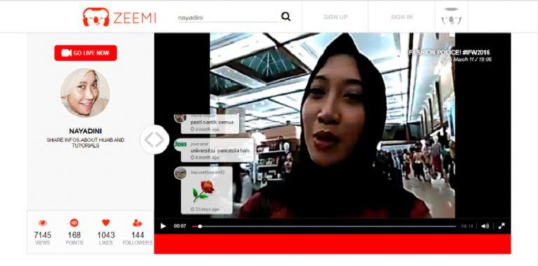 Zeemi, Layanan Live Video Streaming Berbasis Komunitas Hadir di Indonesia
