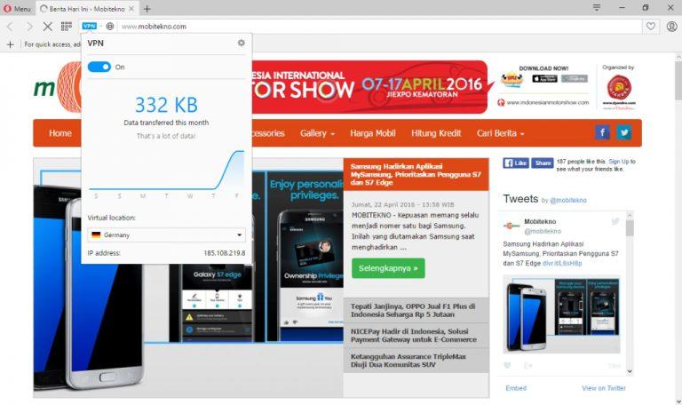 Opera Jadi Browser Pertama yang Integrasikan Fitur VPN Secara Gratis dan Tanpa Batasan