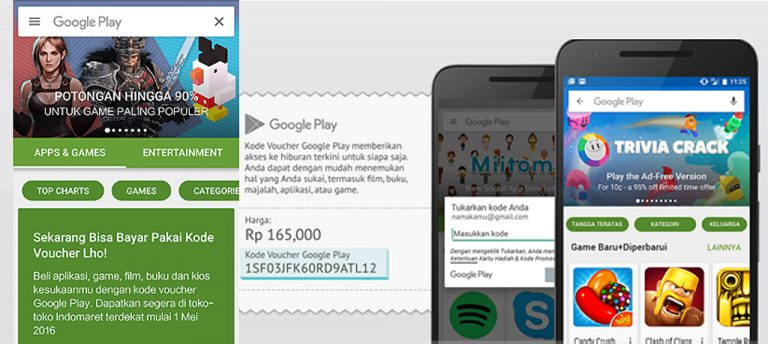 Belanja di Google Play Store Kini Bisa Pakai Voucher Indomaret