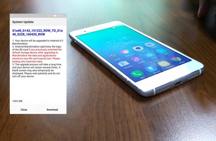 Lenovo VIBE S1 Dapat Update Android 6.0 Marshmallow