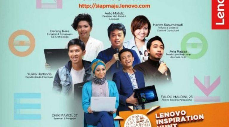 Lenovo Cari Inspirator untuk Dorong Aspirasi Kaum Muda Indonesia
