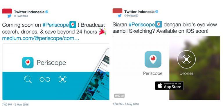 Selain Pencarian Lebih Mudah, Siaran Periscope Kini Bisa Ditonton Setelah 24 Jam