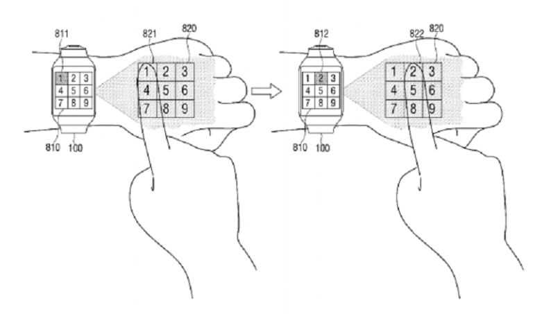 Samsung Ajukan Paten Baru, Smartwatch Proyeksikan ke Lengan atau Dinding