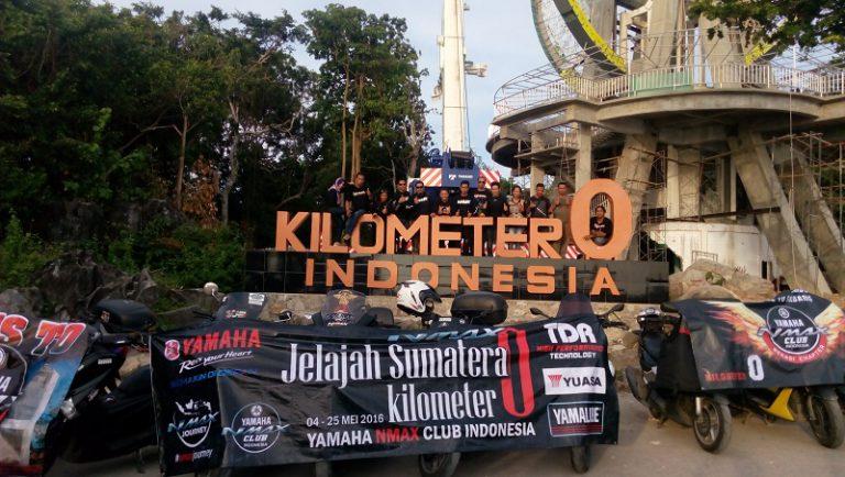 Ulang Tahun Ke-1, YNCI Touring 2000Km+ Capai Monumen Kilometer 0 di Sabang