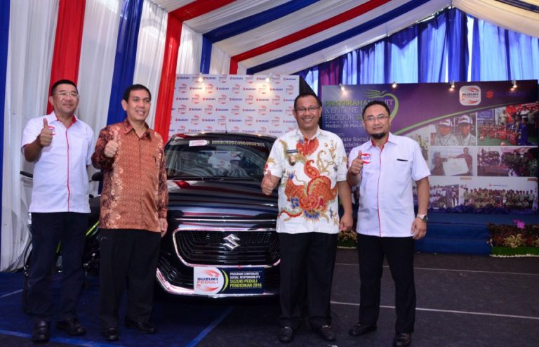 Suzuki Lanjutkan Program CSR, Donasikan Unit dan Mesin ke 7 SMK di Sumatra