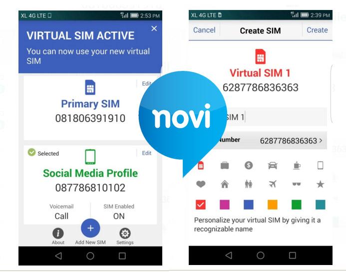 XL Perkenalkan NOVI, Satu Kartu SIM untuk Beberapa Nomor