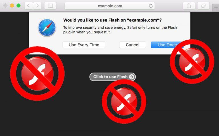 Flash Sudah Langsung Nonaktif di macOS Sierra Terbaru