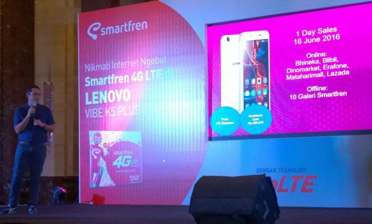 Ribuan Unit Lenovo VIBE K5 Plus Ludes Terjual dalam Promo 'One Day Sale'