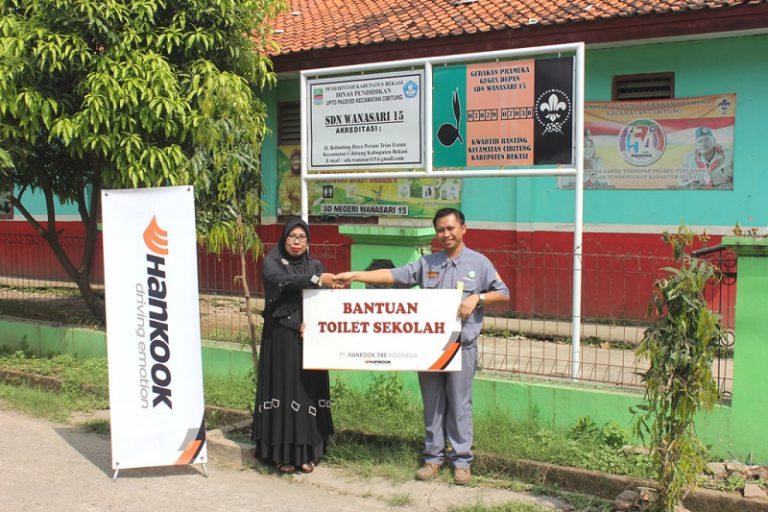 Peduli Kesehatan, Hankook Berikan Bantuan Toilet Sekolah di Cikarang dan Bekasi