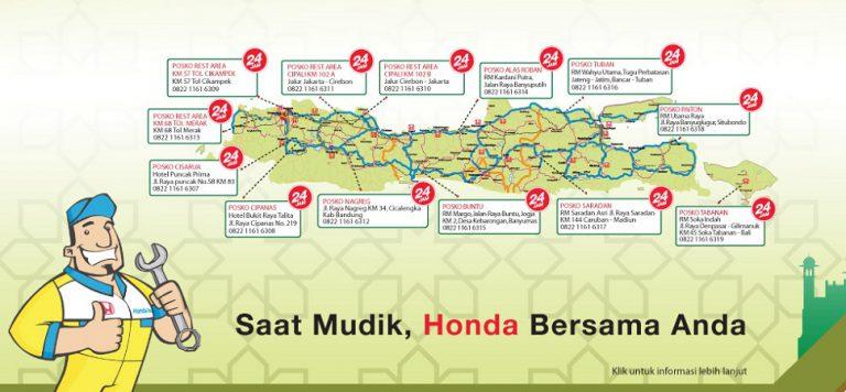 Pulang Kampung Lebih Aman, Honda Siapkan 93 Titik Bengkel Siaga di Jalur Mudik